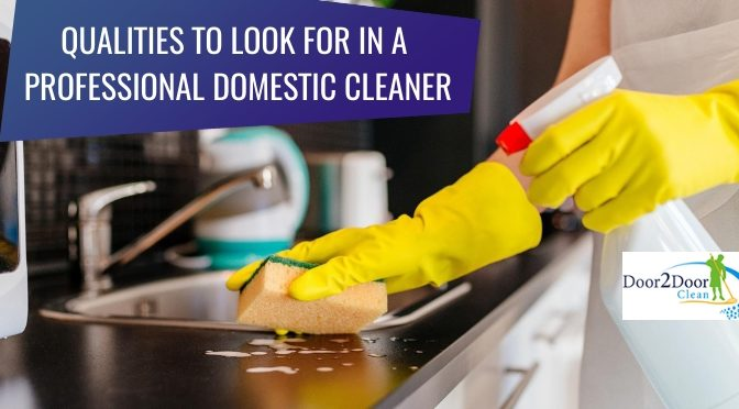 6 Qualities to Look For in A Professional Domestic Cleaner